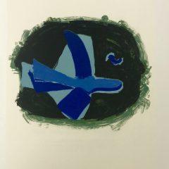"""Braque Lithograph """"Oiseau des forets"""" 1963 Mourlot"""
