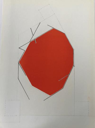 """Pablo Palazuelo, Original Lithograph, DM10184, Derriere le Miroir 1970DM10184"""" DLM 1970, Mid-century modern, Art Wall Décor, Contemporary art,"""