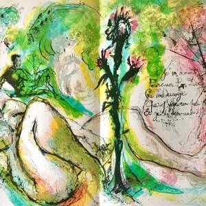 "Pierre Parsus Orig. Lithograph 1974 ""La mauvaise herbe"""