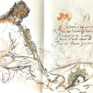 """Pierre Parsus Origina Lithograph """"Le Fossoyeur"""""""