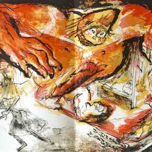 """Pierre Parsus Original Lithograph """"le gorille"""""""