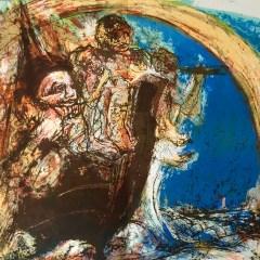"""Pierre Parsus Original Lithograph """"Les copains d abord"""""""