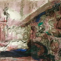 """Pierre Parsus Original Lithograph """"les quat z arts"""""""