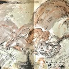 """Pierre Parsus Original Lithograph """"Quatre vingt quinze pour cent"""""""