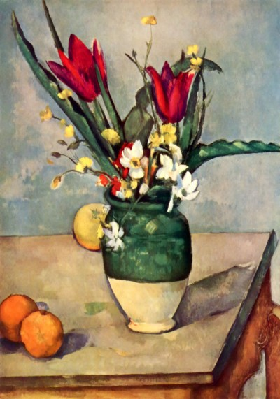 paul Cezanne, Flowers and fruits, giclee