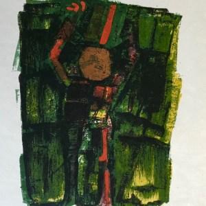 """Orlando Pelayo """"10"""" Original Lithograph 1962, Mourlot"""