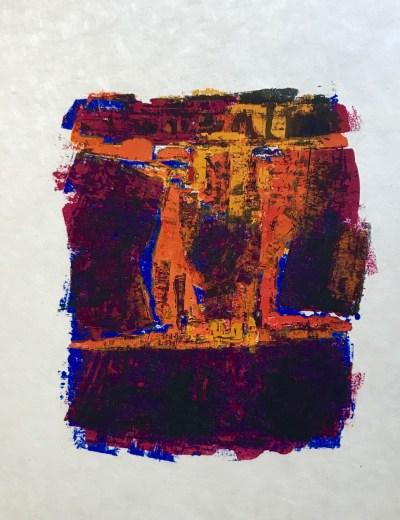 """Orlando Pelayo """"7"""" Original Lithograph 1962, Mourlot"""
