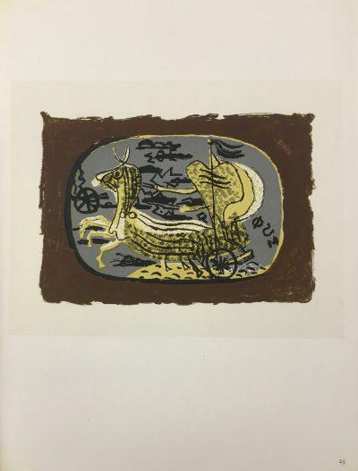 "Braque Lithograph ""Phaeton"" 1963 Mourlot"