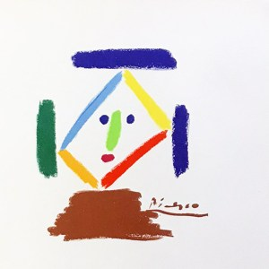Pablo Picasso lithograph 135, The Nun 1968