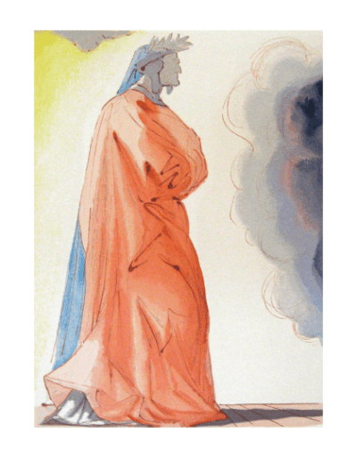Salvador Dali, Paradise 1, Woodcut, Divine Comedy