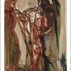 Salvador Dali, Purgatory 11, Woodcut, Divine Comedy