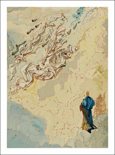 Salvador Dali, Paradise 20, Woodcut, Divine Comedy