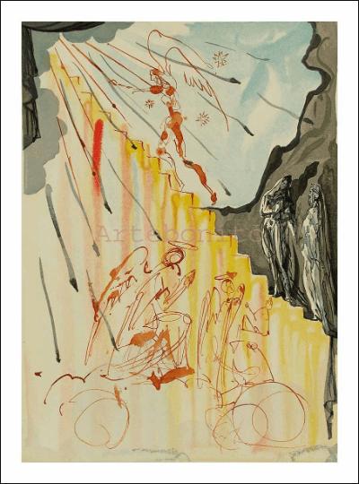 Dali Woodcut, Paradise 21, Woodcut, Divine Comedy