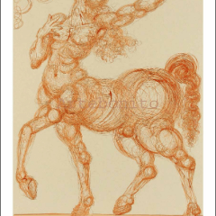 Salvador Dali, Hell 25, Woodcut, Divine Comedy