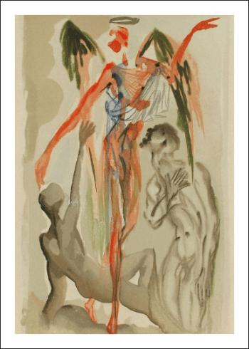 Salvador Dali Woodcut, Earthly paradise - Purgatory 32