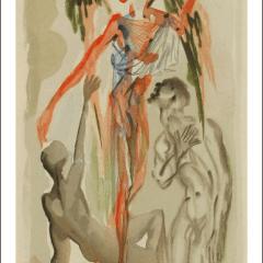 Salvador Dali, Purgatory 32, Woodcut, Divine Comedy