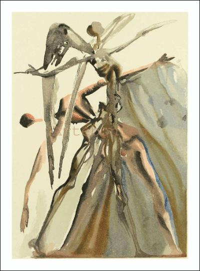 Salvador Dali, Purgatory 4, Woodcut, Divine Comedy