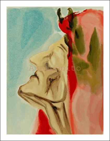 Salvador Dali, Paradise 7, Woodcut, Divine Comedy