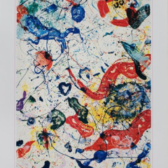 Sam Francis poster Heland Thordén Wetterling Galleries, Stockholm, Mid-century Modern, wall art Décor