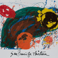 Sam Francis poster For Thirteen, for PBS 1988, Mid-century Modern, art print poster, wall art Décor