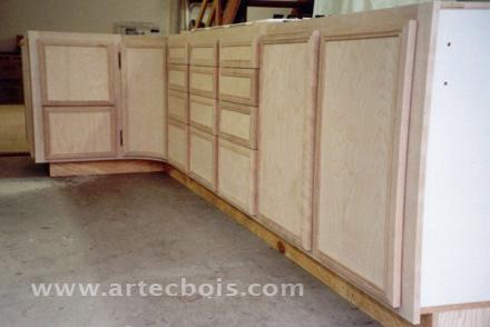 meubles bas de cuisine en construction fabrication