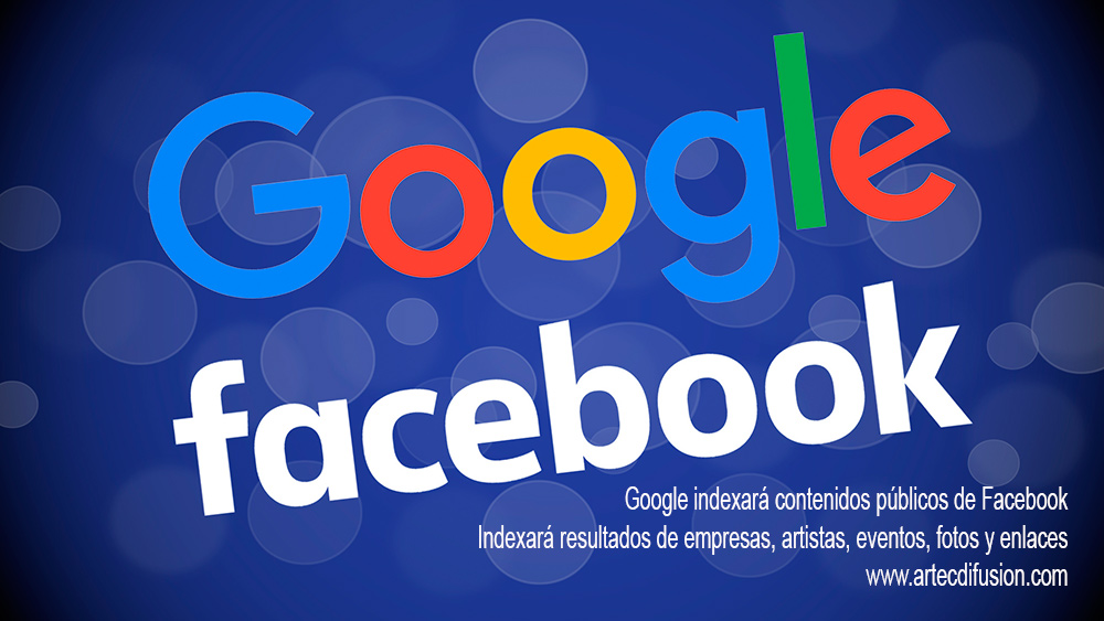 Facebook da permiso a Google para indexar sus contenidos públicos