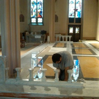 Finishing Touches on the Chancel Area