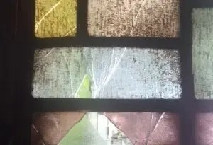 Before stained glass repair