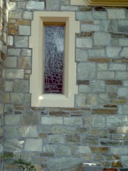 stained glass in stone