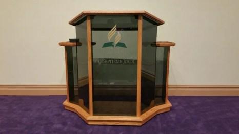 New Custom Glass Pulpit
