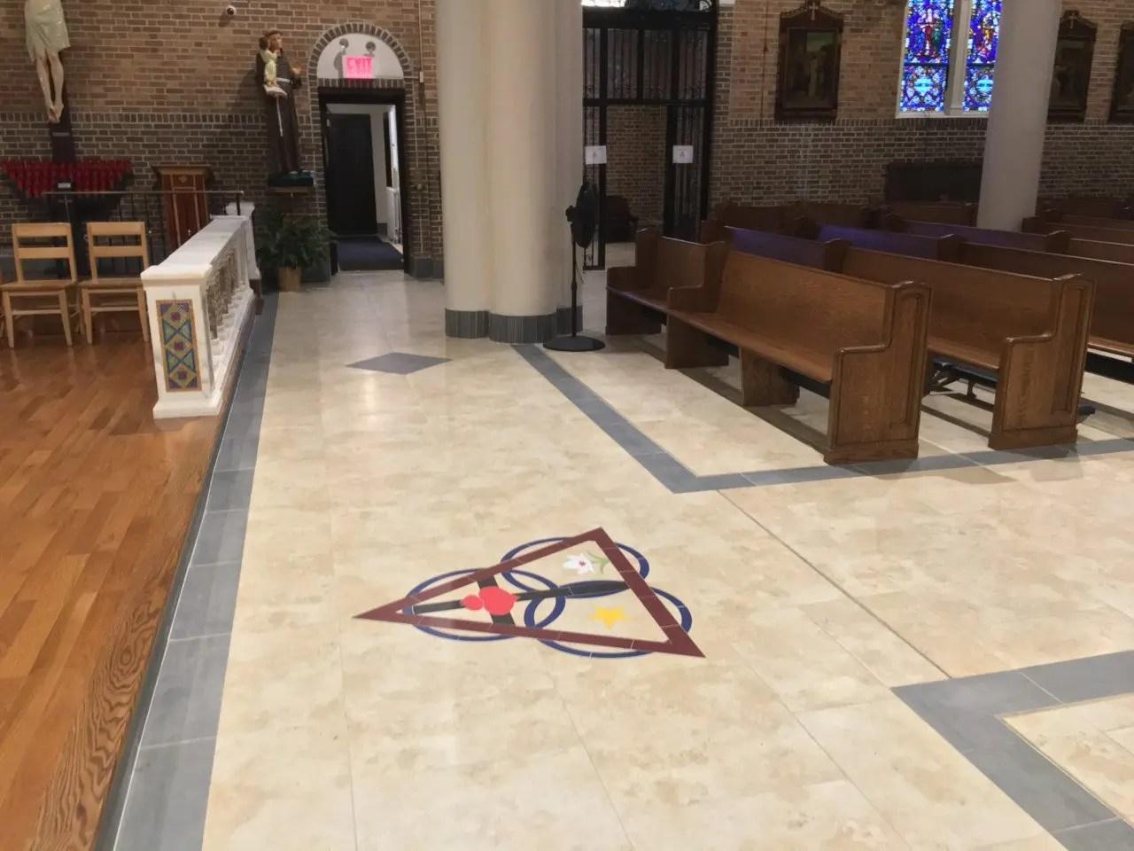 church tile marble floors artech