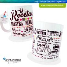 Mug La Receta de Nuestra Familia_logo
