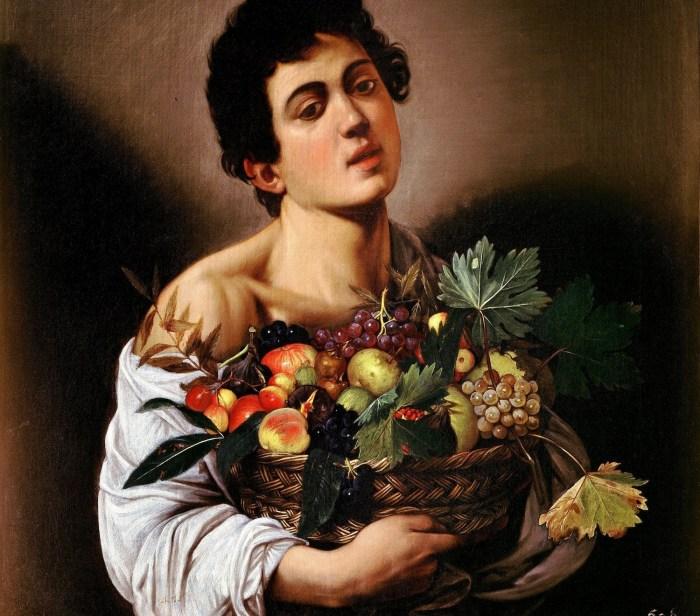 Joven con cesta de frutas, Caravaggio
