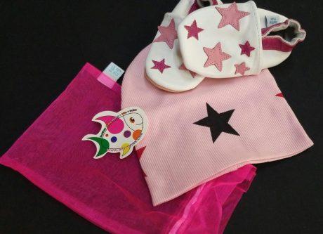 Dotty Fish Pink Twinkle set scarpine e cappellino