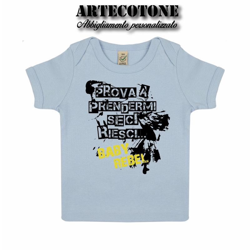 T-shirt Baby prova a prendermi in cotone organico