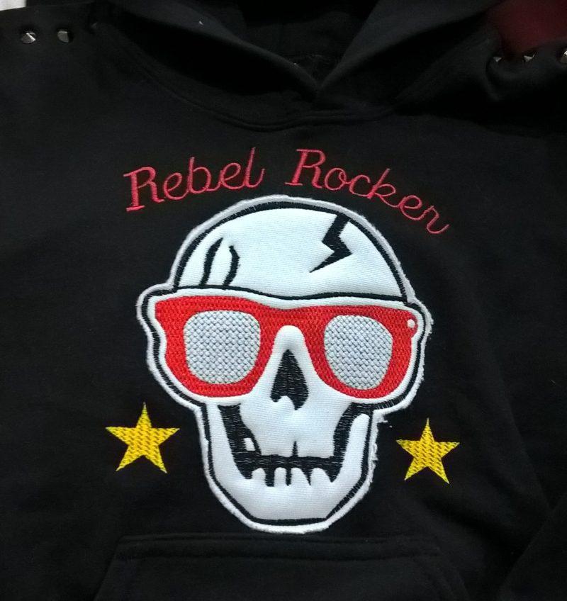 Felpa Rebel Rocker donna