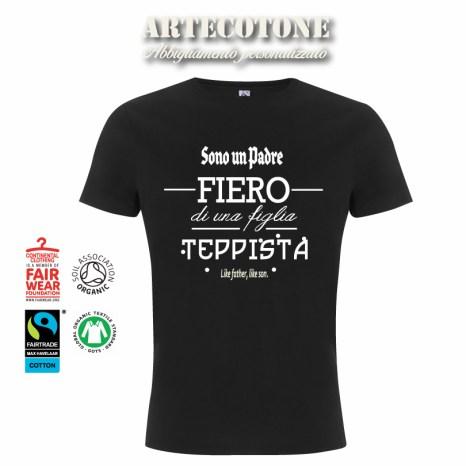Tshirt padre fiero figlia teppista - Design by Artecotone