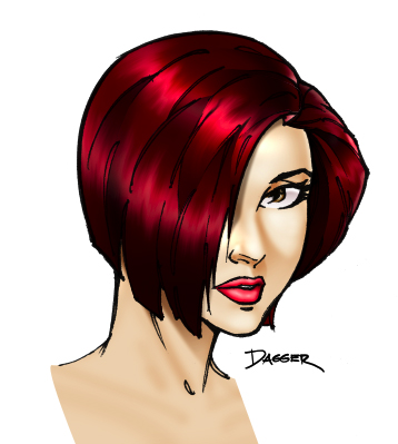 Digital coloring // Hair basics