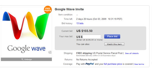 Invitaciones Google Wave