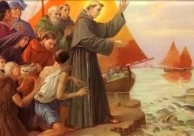 La predicación a los peces de San Antonio de Padua