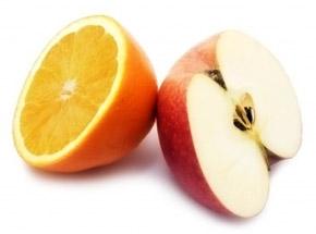 Jugo de manzana, naranja, lechuga y limón, reconstituyente y nutritivo