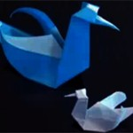 diseñar un cisne en origami