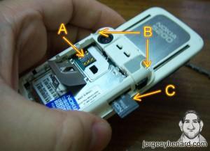 Quitar SIM, Memoria y Torx6