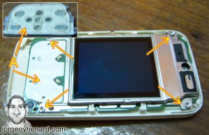 Placa pantalla y teclado