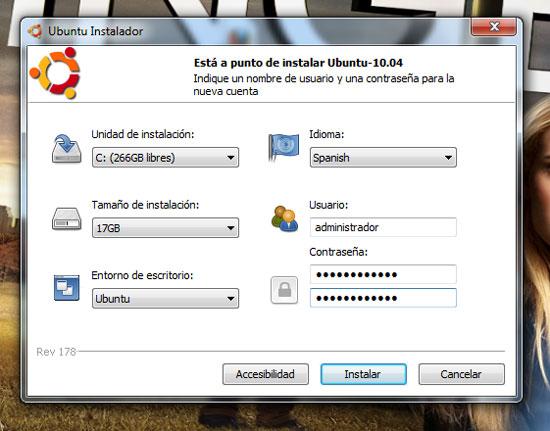 Ubuntu Windows 7