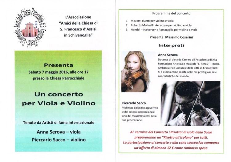 Un concerto per viola e violino