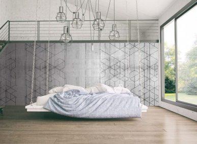 Modern loft room interior