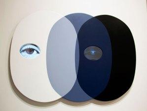 Tony Oursler – untitle (3 heads), 2014-10-26 Aluminium, acrylic, LCD screen Galerie Lehmman Maupin (New York, Honk Hong)