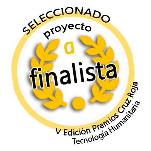 Logo Finalista en V Edición premios cruz roja