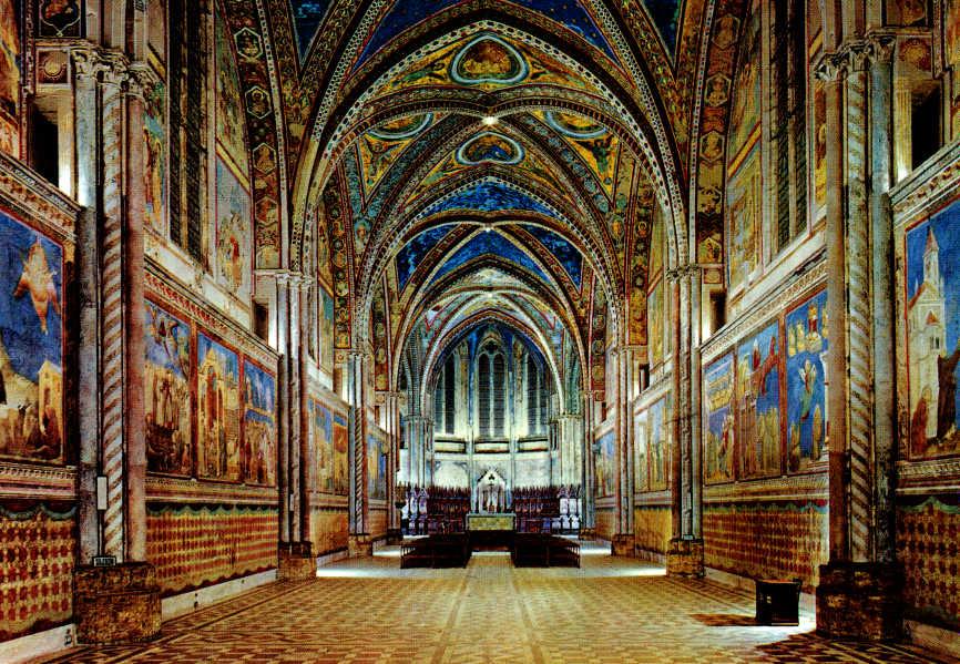 Фрески Джотто в базилике Сан Франческо в Ассизи (1/6)